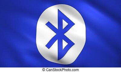 Bluetooth symbol on the blue flag