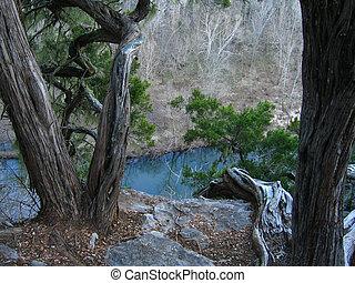 Bluff Overlook - Overlook on a bluff in Arkansas