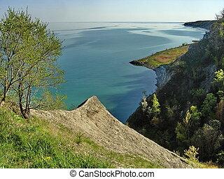Bluffs at the lake