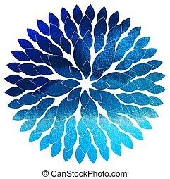 blume, abstrakt, farbe, abbildung, blau, vektor