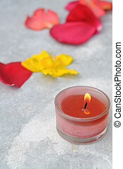 blume, brennender, Fokus, blütenblätter, Flamme, hintergrund, heraus