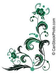 blume, grün