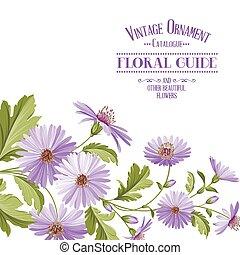 blume, hintergrund, mit, violett, flowers.