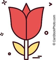 blume, liebe, rose, vektor, design, ikone