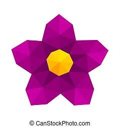 blume, lila, abstrakt, poly, niedrig, geometrisch