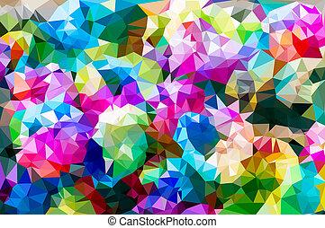 blume, mosaic., bunte, polygonal
