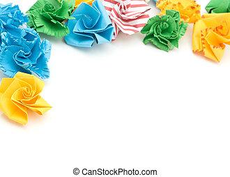 blume, origami, bunte
