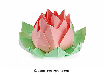 blume, origami, lotos