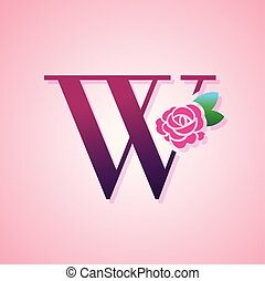 blume, schoenheit, rose, mode, brief, logo.