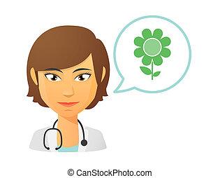 blume, weiblicher doktor
