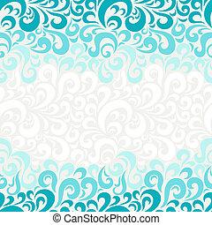blumen-, abstrakt, pattern., seamless