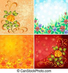 Blumen-, Abstrakt, satz, Hintergruende