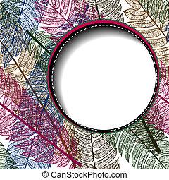 blumen-, abstrakt, text., hintergrund, raum