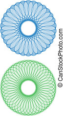blumen-, abstrakt, vektor, satz, muster