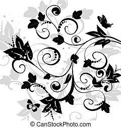 blumen-, abstraktes design