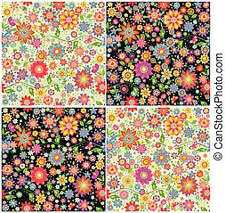 abstrakt blumen vlinders bunte bunte abstrakt vektor suche clipart illustration. Black Bedroom Furniture Sets. Home Design Ideas