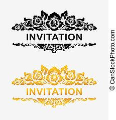 blumen dekoration, einladung