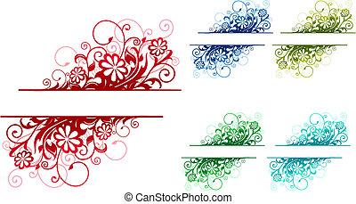 blumen-, dekorationen