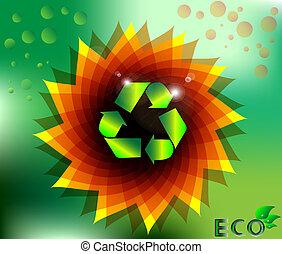 blumen-, eco, abstrakt, ökologie, verwerten wieder