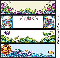 blumen-, (floral, banner, series)