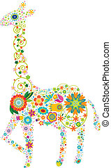 blumen-, giraffe