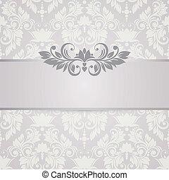 blumen-, hintergrund., wedding, karte, oder, einladung, mit, abstrakt, flor