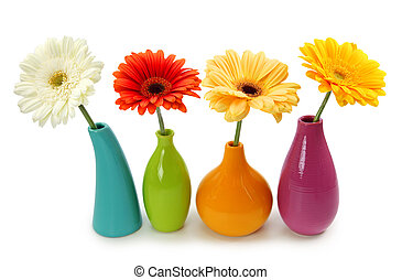 blumen, in, vasen