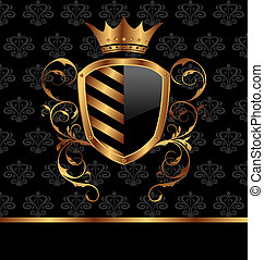 blumen-, krone, schutzschirm, aufwendig