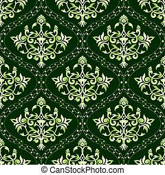 blumen muster, grün, seamless