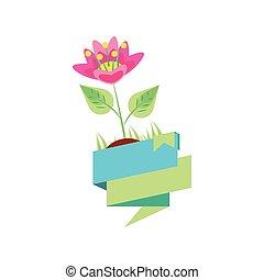 blumen, natürliche schönheit, geschenkband