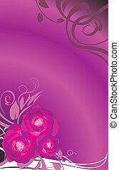 blumen-, rosen, karte