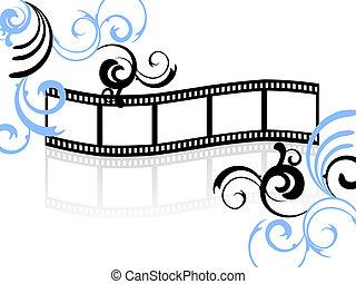 blumen-, streifen, film