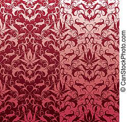 blumen-, tapete, seamless, klassisch