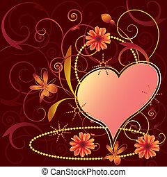 blumen-, valentines, hintergrund