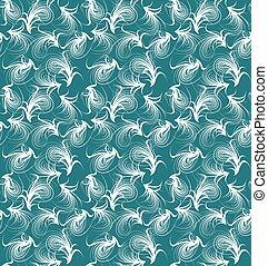 blumen-, vektor, pattern., seamless