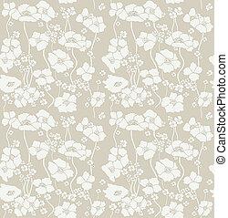blumen-, wallpaper., seamless