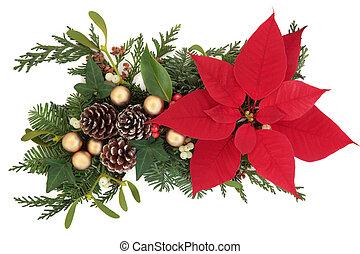 blumen-, weihnachten, textanzeige