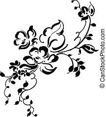blumen-, weinlese, design