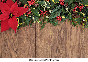 blumenrahmen, weihnachten
