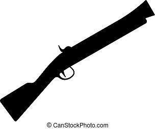 Blunderbuss, firearm with a large short caliber barrel