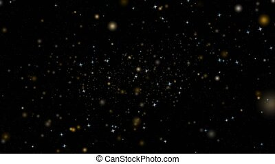 blur and colorful stars counterclockwise particles slow faded on dark red screen background