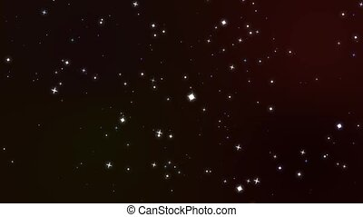 blur and huge stars rotate motion glittering particles slow faded on dark red screen background