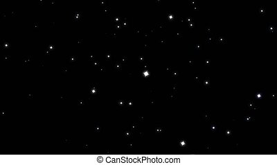 blur and stars rotate motion glittering particles slow faded on black screen background