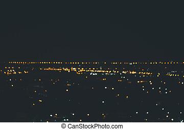 Blur background of lighting city bokeh