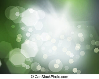 Blur background - Shining festive green and gray background.