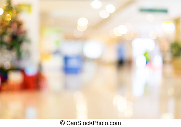 Blur background, store blur with bokeh light