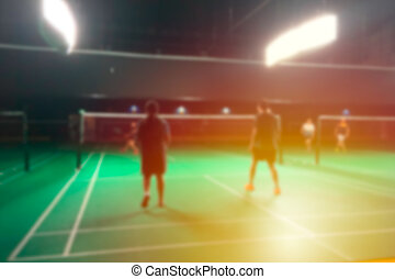 Blur badminton court tournament indoor sport game for ...