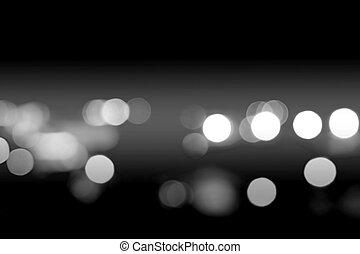 bokeh light in city night time