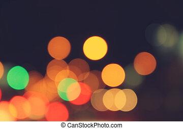 blur bokeh light in traffic