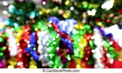 blur bokeh moving of christmas tree 5